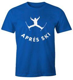 Herren T-Shirt Apres Ski Sprung Bier Fun-Shirt Moonworks®