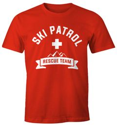 Herren T-Shirt Apres-Ski Patrol Rescue Team Fun-Shirt Moonworks®