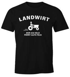 Landwirt nur ein held fährt aufs Feld T-Shirt Herren Moonworks®