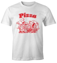 Pizza Shirt Schachtel Motiv Italiano Italien Fun-Shirt Moonworks®