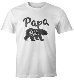 Papa Bär Shirt Herren T-Shirt Watercolor Bären Familie Moonworks®