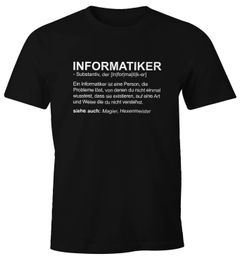 Herren T-Shirt Informatiker Definition Fun-Shirt Moonworks®