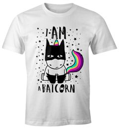 Batcorn Shirt Herren Einhorn Unicorn Fun-Shirt Moonworks®