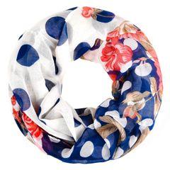 XXL Schlauchschal Infinity Loop Schal Rundschal Blumen Blüten Tube Scarf Floraler Print Autiga®