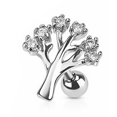 Autiga® Ohr Piercing Stecker Tragus Helix Cartilage Barbell Lebensbaum Tree