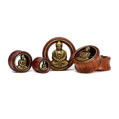 Flesh Tunnel Holz Buddha Wood 12-30 mm Ear Plug Sattle Fit Double Flared Organic