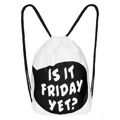 Turnbeutel Is it friday yet Gymsac Stringbag Sportbeutel Hipster Tasche Beuteltasche