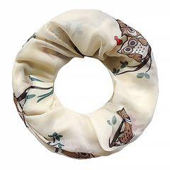 XXL Schlauchschal Damen Infinity Loop Schal Eulen Print Rundschal Owl Tube Scarf