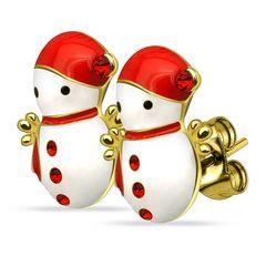 Autiga® Weihnachts Ohrstecker Ohrringe Weihnachten Schneemann Snowmen Christmas