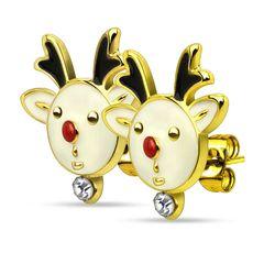 Autiga® Weihnachts Ohrstecker Ohrringe Weihnachten Rentier Rudolph Reindeers