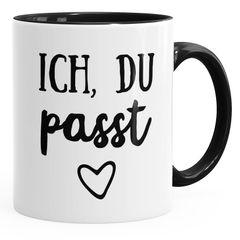 Geschenk-Tasse Paare Ich du passt Liebe verliebt Kaffeetasse Teetasse Keramiktasse MoonWorks®