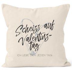 Kissen-Bezug Valentinstagsgeschenk Liebe Scheiß auf Valentinstag Ich liebe dich jeden Tag Kissen-Hülle Deko-Kissen Baumwolle MoonWorks®