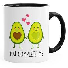 Geschenk-Tasse Liebe Avocado You complete me Kaffeetasse Teetasse Keramiktasse MoonWorks®