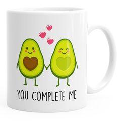 Kaffee-Tasse Geschenk-Tasse Liebe Avocado You complete me Valentinstagsgeschenk MoonWorks®