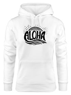Hoodie Damen Aloha Wellen Surfing Sommer Kapuzen-Pullover Neverless®