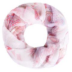 leichter XXL Schlauchschal Infinity Loop Schal Rundschal Blumen Flower Tube Paisley Muster Scarf Damen Autiga®