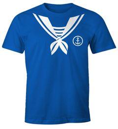 Herren T-Shirt Matrose Sailor Fasching Fasching-Shirt Fun-Shirt Karneval Fastnacht Moonworks®