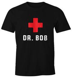 Herren T-Shirt Dr Bob Dschungel Arzt Notarzt Fun-Shirt Moonworks®