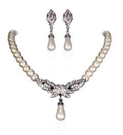 Brautschmuck Schmuckset Perlen Collier Kette Ohrringe Kristall Herz Hochzeit Tropfen