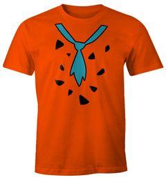 Herren T-Shirt Fasching Fred Feuerstein Faschings-Shirt Karneval Moonworks®