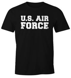 Herren T-Shirt U.S. Air Force Fun-Shirt Fasching Verkleidung Karneval Kostüm Moonworks®