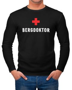 Herren Longsleeve Bergdoktor Apre Ski Party Shirt Langarm-Shirt Moonworks®