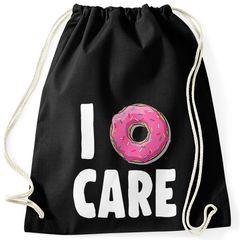 Turnbeutel I Donut care I do not care don´t care Gymsac Gymbag Moonworks®