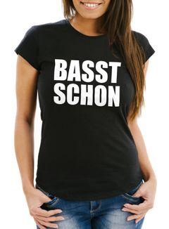 Damen T-Shirt Rave, Festival Party Feiern Spruch Shirt Techno - Passt Basst Schon - Comfort Fit MoonWorks®