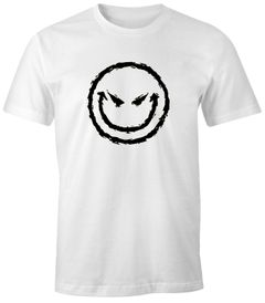 Herren T-Shirt - Evil Bad Emoji  - Fun Shirt Comfort Fit MoonWorks®