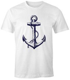 Herren T-Shirt - Anker Gerade V3 - Comfort Fit MoonWorks®
