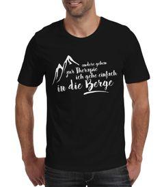 Herren T-Shirt Wandern Andere gehen zur Therapie ich gehe einfach in die Berge - Moonworks