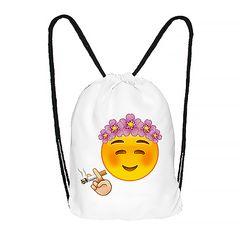 Turnbeutel Emoji Emoticons Smileys Hipster Beutel Tasche Beuteltasche Stringbag