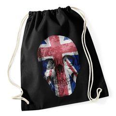 Turnbeutel Totenkopf Union Jack Flagge England Großbritanien Flag Skull Gymbag