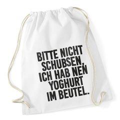 """Turnbeutel mit Sprüchen """"bitte nicht schubsen"""" Hipster Beutel Tasche Jutebeutel Gymbag"""