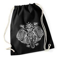 Turnbeutel Elefant Mandala Muster Hipster Beutel Tasche Jutebeutel Elephant Gymsac