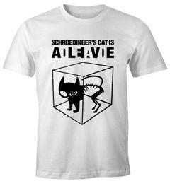 Schroedingers Katze Herren T-Shirt Fun-Shirt Moonworks®