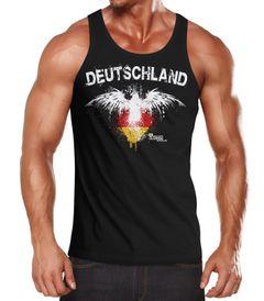 Herren Tanktop Deutschland Adler Splatter Fußball EM WM Fan Design Shirt Moonworks®