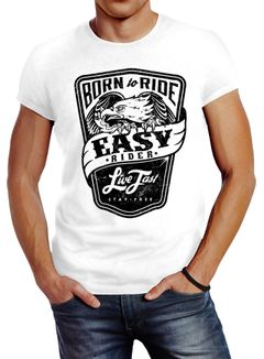 Biker Herren T-Shirt Easy Rider - Born To Ride Slim Fit Neverless®