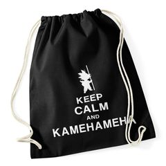 Turnbeutel Keep Calm and Kamehameha Son Goku Dragonball Hipster Beutel Tasche
