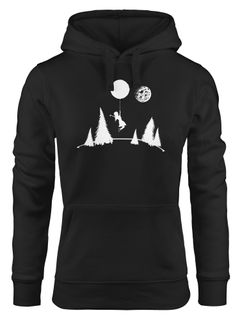 Kapuzen-Pullover Damen To the moon Hoodie Moonworks®