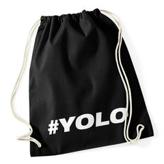 Turnbeutel #yolo Hashtag Hipster Beutel Tasche Baumwolle Gymbag Autiga®