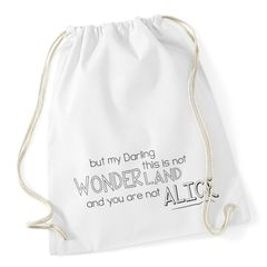 Turnbeutel alice - this is not wonderland Hipster Beutel Tasche Baumwolle Autiga®