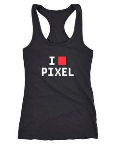 Damen Tanktop I Love Pixel Racerback Moonworks®