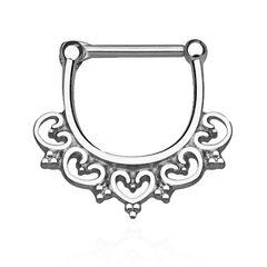 Nasenpiercing Septum Ring Herz Ornament Tribal Piercing Nasenring Chirurgenstahl