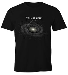 Herren T-Shirt Galaxy Shirt You are here Fun-Shirt Moonworks®
