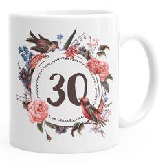 Geburtstags-Tasse {style_variation} {{style_variation}_ausgeschrieben} Geschenk-Tasse Kaffee-Tasse Blumen Blüten Blumenkranz MoonWorks®