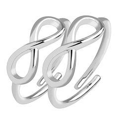 Fingerspitzenring Midi Knöchel Ring Nagelring Zehenring Infinity Unendlichkeit