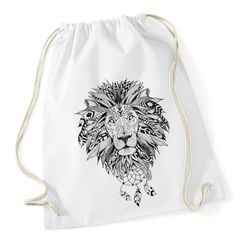 Turnbeutel Löwe Mandala Aztekenmuster Boho Lion Aztec Bohemian Hipster Beutel Tasche Autiga®