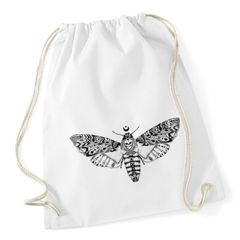 Turnbeutel Schmetterling Falter Totenkopf Aztekenmuster Boho Hipster Beutel Tasche