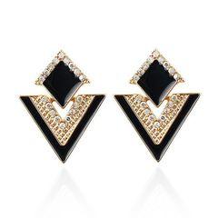 Ohrringe Ohrstecker Dreieck Dreieckig Statement Earrings geometrische Form Triangel